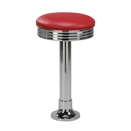 Budget Bolt-Down Soda Fountain Counter Stool Red