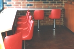 Coffee Shop Counter Stool Installation