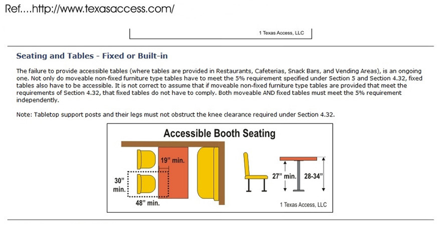Accessible Restaurant Booth Seating
