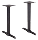 Pair of 22 Inch Dining Height ADA End Bases