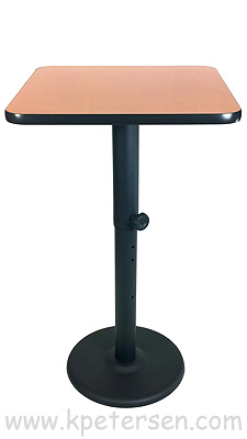 Adjustable Height Table Base Round Bottom Style Bar Height