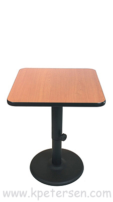 Adjustable Height Table Base Round Bottom Style Dining Height