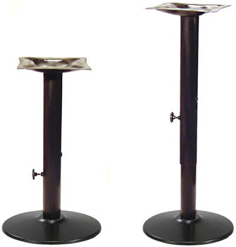Adjustable Table Bases Round Bottom