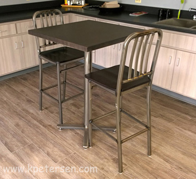 All Steel Half Inch Thick Flat Steel Bar Stock Bar Table Height Table Bases Installation