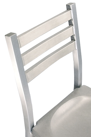 Alumaladder Aluminum Barstool With Cast Aluminum Seat Back Detail