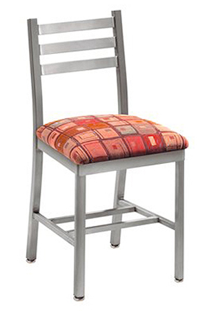 Alumaladder Aluminum Chair With Upholstered Seat