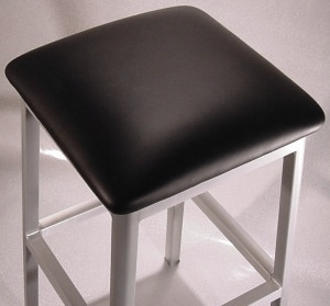 Alumano Aluminum Bar Stool Upholstered Seat Detail
