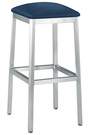 Backless Square Seat Alumano Aluminum Barstool
