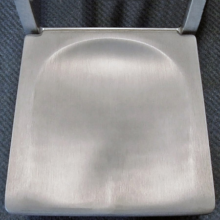 Aluminum Restaurant Chair Cast Aluminum Seat Detail