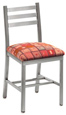 Aluminum Ladderback Restaurant Chair Upholstered Seat