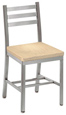 Aluminum Ladderback Restaurant Chair Wood Seat