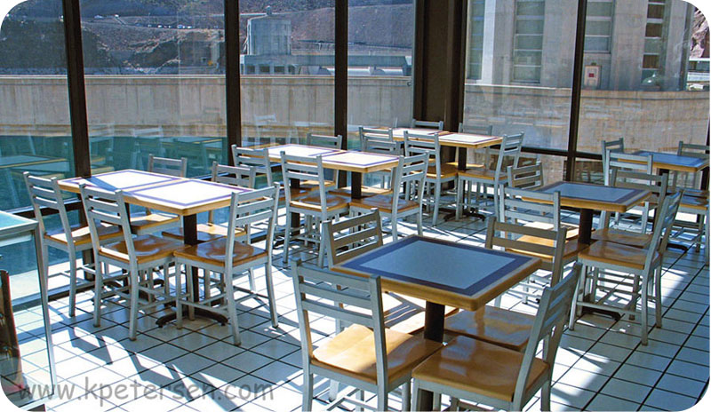 Alumaladder Aluminum Chair With Wood Veneer Seat Restaurant Installation