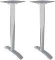 Aluminum End Umbrella Bar Table Bases Silver
