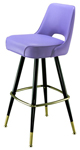 Automatic Seat Return Upholstered Club Bar Stool Open Plain Back