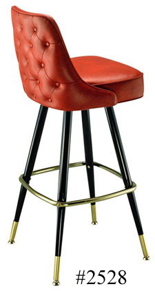 Automatic Seat Return Upholstered Club Bar Stool 2528 Tufted Back