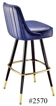 Automatic Seat Return Upholstered Club Bar Stool 2570 Channel Back