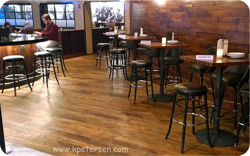 Backless Bentwood Bar Stools Installation