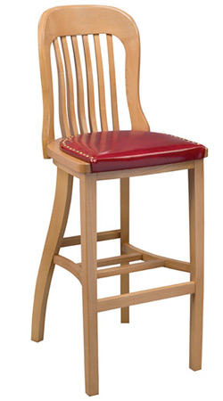 Bankers Barstool Upholstered Seat Front View