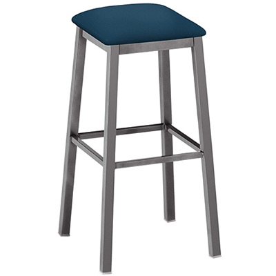 Backless Square Seat Barstool Upholstered Seat