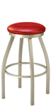 Backless Swivel Seat Bar Stool Upholstered Seat