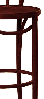 Candy Cane Bentwood Bar Stool Closeout Mahogany
