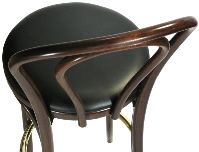 Bentwood Bar Stool Upholstered Seat Option