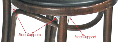Bentwood Bar Stool Steel Leg Supports