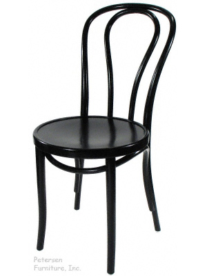 Bentwood Chair Theatrical Black Finish Three Quarter View