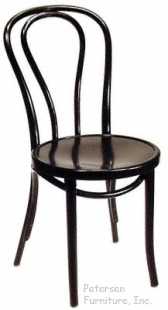 Bentwood Chair Theatrical Black Lacquer Finish