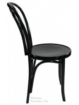 Bentwood Chair Theatrical Black Finish Side View