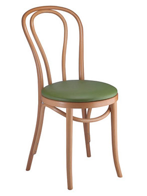 Bentwood Chair Hairpin Style Upholstered Seat