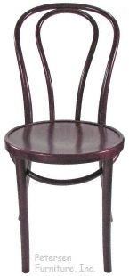 Bentwood Chair Hairpin Style Mahogany Stain