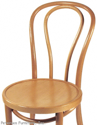 Bentwood Chair Natural Clear Color Finish Detail View