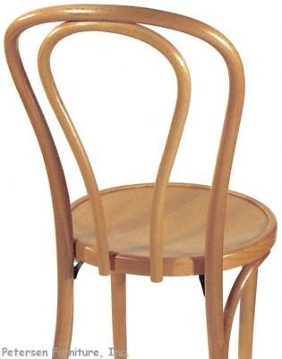 Bentwood Chair Natural Clear Color Finish Rear View Detail
