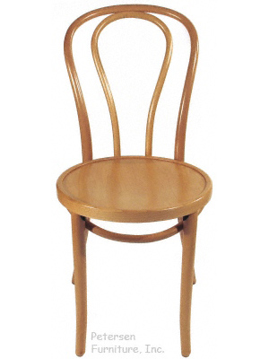 Bentwood Chair Natural Clear Color Finish Front View