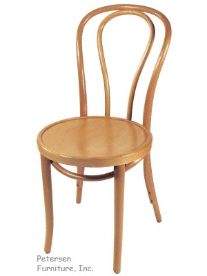 Bentwood Chair Natural Clear Color Finish Three Quarter View