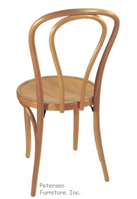 Bentwood Chair Natural Clear Color Finish Rear View