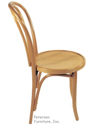 Bentwood Chair Natural Clear Color Finish Side View