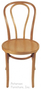 Bentwood Chair Hairpin Style Clear, Natural Finish