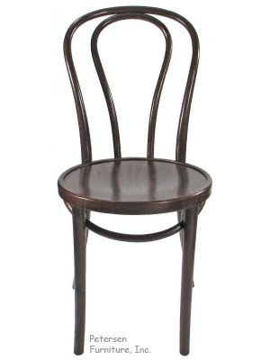 Bentwood Chair Walnut Stain Front View