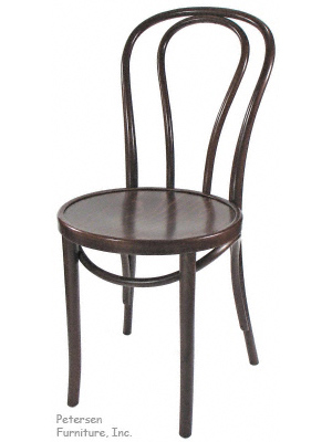 Bentwood Chair Walnut Stain Three Quarter View