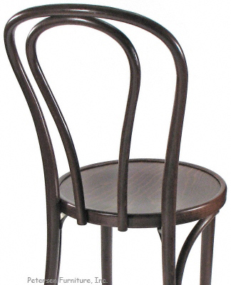 Bentwood Chair Hairpin Style, Walnut Stain Rear Detail