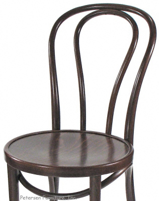 Bentwood Chair Hairpin Style, Walnut Stain Detail