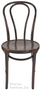 Bentwood Chair Hairpin Style Walnut Stain