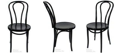 Bentwood Chairs Natural Black Lacquer Finish Views
