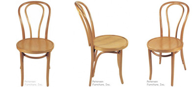 Bentwood Chairs Natural Finish Views