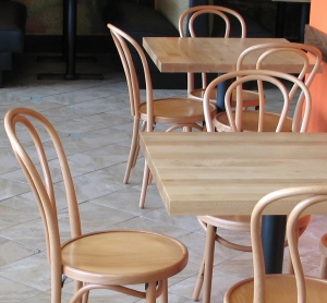 Bentwood Chairs Natural Clear Finish Snack Shop