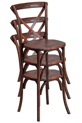 Bentwood Stacking Chairs Stacked View