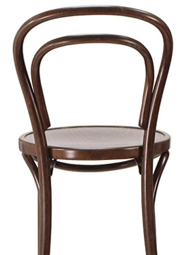Thonet Style Bentwood Bar Stool Wood Seat Rear View Detail 2
