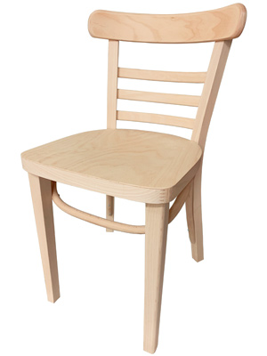 Bentwood Ladderback Restaurant Chair Raw, Unfinished Option